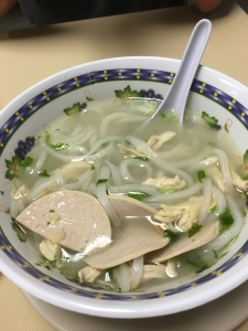 Sticky Rice Cafe's version of chicken noodle soup called Po Tek--so large it's a meal!