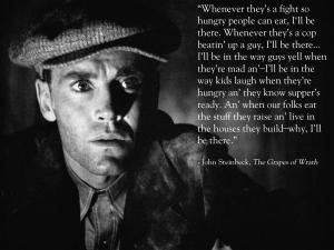 Henry Fonda as John Steinbeck's Tom Joad.
