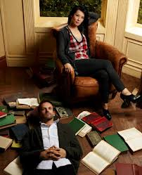 Lucy Liu and Jonny Lee Miller in the present-day version of Sherlock Holmes, as imagined on CBS's Elementary.
