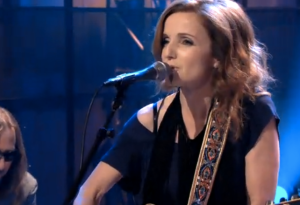 "Patty Griffin singing ""Don't Let Me Die in Florida"" on Jay Leno."