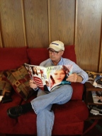 Kurt reading The Hollywood Reporter