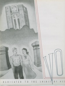 "The 1940 yearbook's dedication to ""all volunteers to come in the future."""