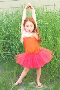 Do it your own way in your pink tutu, dancing passionately.