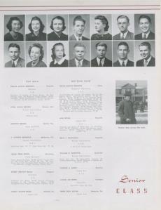 Brum Brumfiel's 1940 senior yearbook page.