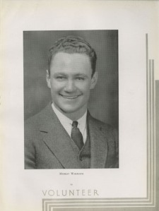 Murray Warmath won the coveted Torchbearer award in 1934, the university's highest student honor.