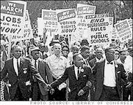 March on Washington in the streets on August 28, 1963.