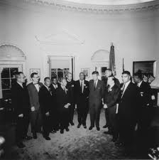 March leaders visiting with President Kennedy in his office.