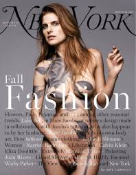 Bell on the August 19-16, 2013 Double Issue (can you believe they called it that?!) of New York Magazine in nothing by a fake tattoo applied by her husband, the most famous tattoo artist in the world.