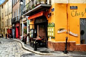 A lovely little restaurant in Aix-en-Provence, France.