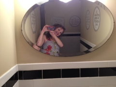 Yep, the Brasserie's mirror is a fine place to check your look while dining at one of Knoxville's finest restaurants!