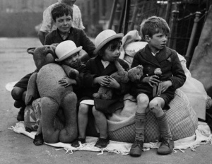 World War II children rescued with their toys.