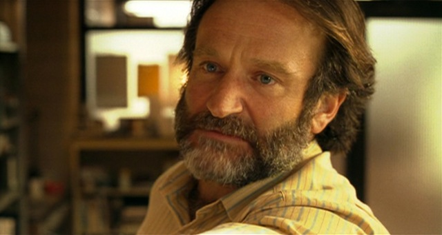 "Robin Williams as his Academy-Award-winning role of Dr. Sean Maguire in ""Good Will Hunting""."