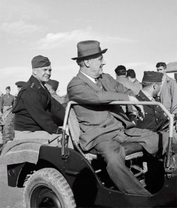General Eisenhower with President Franklin Delano Roosevelt during World War II.