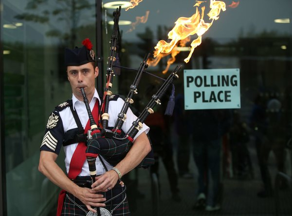 Scots go to the polls today to vote on their independence from the United Kingdom.