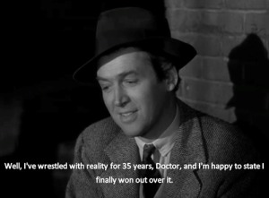 "Jimmy Stewart in ""Harvey"", 1950."