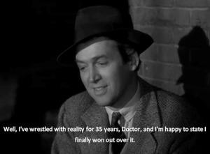 """Jimmy Stewart in """"Harvey"""", 1950."""