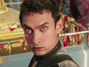 "Check out Aamir Khan's eyebrows that should have been credited separately in his new movie ""PK""."