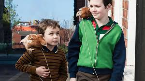 "The adorable film ""Boogaloo and Graham"", about two Irish boys and their pet chickens."