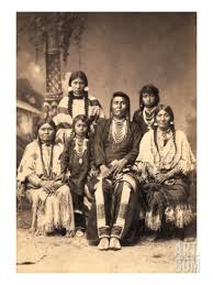 Thunder Rolling in the Mountains (Joseph) and his family in 1880.