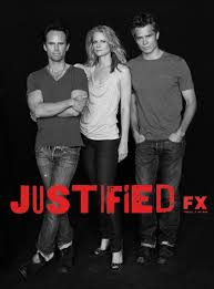 "Boyd (Walton Goggins), Ava (Joelle Carter), and Raylon (Timothy Oliphant) of AMC's ""Justified""."