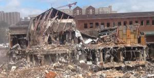 After: the destruction of the University Center. Photo by Laurie Knox