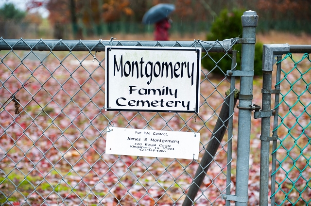 The sign at my grandmother's family cemetery in Carroll County, Virginia.
