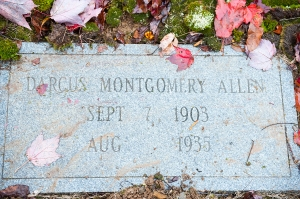 The grave of Darcas Nickaline Montgomery Allen, Daddy's mother
