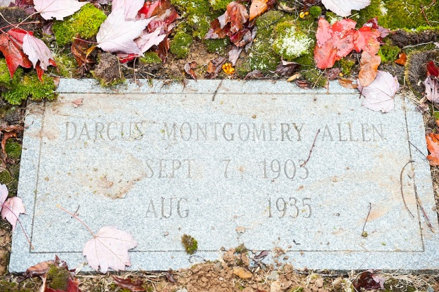 Darcas's grave shows no exact date for her death because they were not sure when she died.