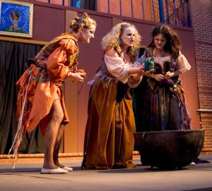 The Tennessee Stage Company presenting the iconic three witches in Macbeth.