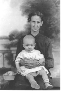 Daddy on his grandmother's lap, early 1936.