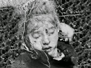 A child killed in World War II.