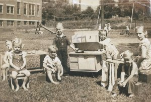 Daddy (center left) at day care, around 1940.