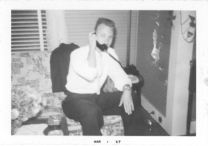 Daddy at Mama's home in the early 1950s.