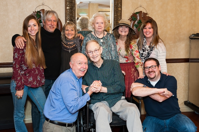 Bright-eyed Daddy, at his rehab facility, surrounded by our family on Thanksgiving 2016, a week before his died.