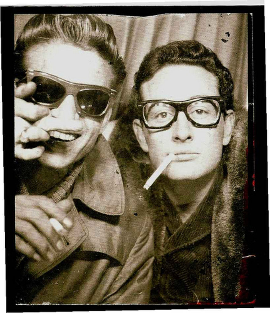 Waylon Jennings and Buddy Holly.